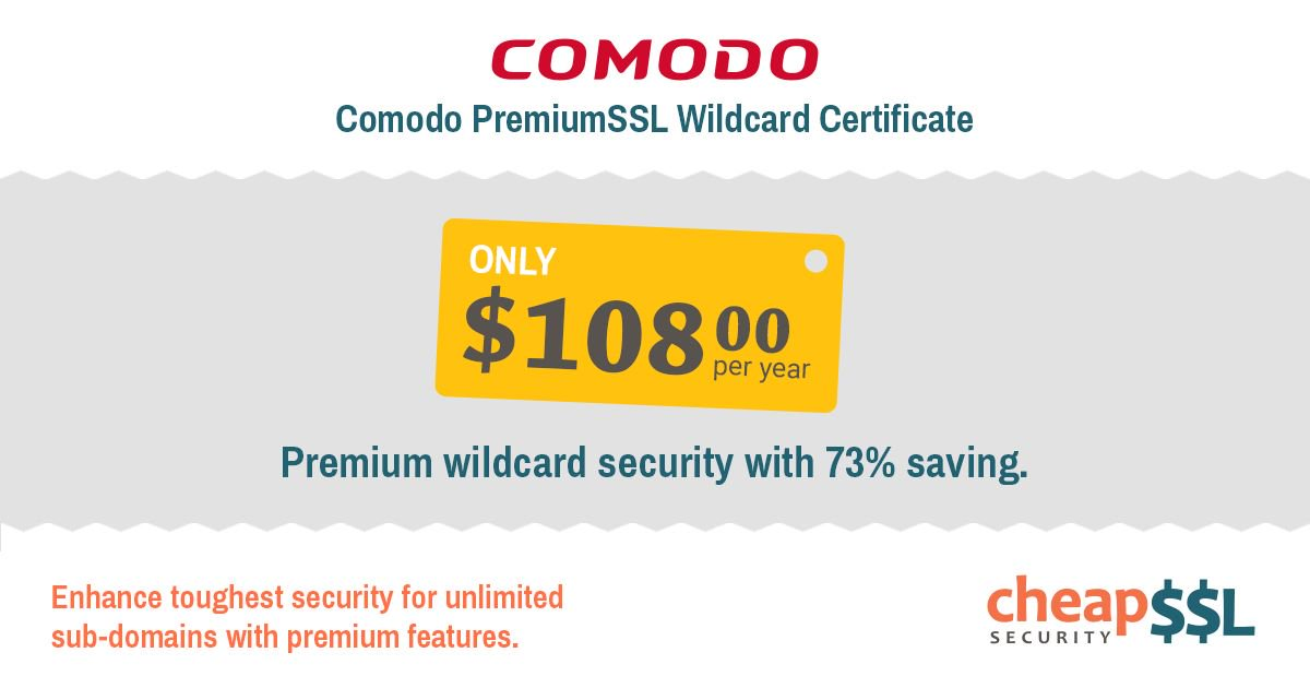 Cheapsslsecurity On Twitter 73 Off Comodo Premium Ssl Wildcard