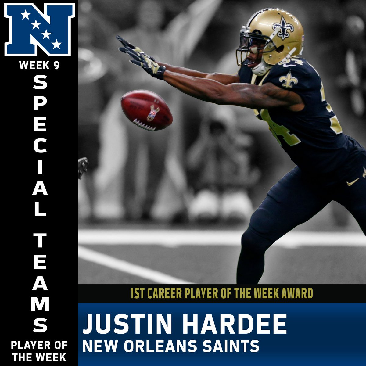 7e92d8d025b ... 2011 Justin Hardee joins Marshon Lattimore (Defensive Rookie of the  Month