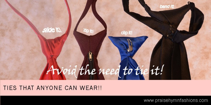 #avoid the #need to #tie it! For #children&#39;s #choir #ties can be a #pain. #inexpensive #options are ties that are #sliders #clipon #zipper or #banded. #calltoday to #order #because #thestruggleisreal when #100 #ties need to be #tied.<br>http://pic.twitter.com/T4XR0T3ddq