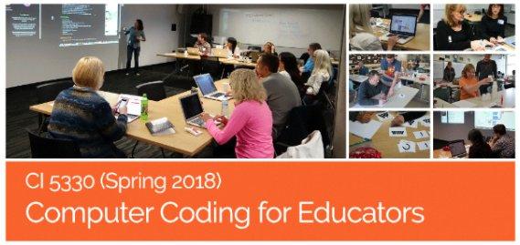K-12 #teachers should def check out unique Spring &#39;18 hybrid Coding for Educators course led by #edtech expert @cscharber   https:// goo.gl/gB4RpL  &nbsp;   <br>http://pic.twitter.com/i0Ue9NezoG