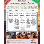 Knowledge is Power at today's #YOCISO Newcomer Youth Centre. Join us to build your mind and awareness of the world and yourself. Also, homework club! https://t.co/5ywyS22fOd