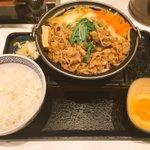 牛すき鍋膳肉2倍盛りねぎ卵これで1050円て(੭ु ›ω‹ )੭ु⁾⁾吉野家マジ素晴らしい◎ pic…