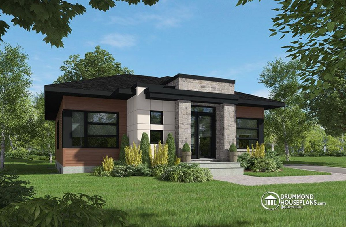 ... And Large Central Island # 4161 Http://www.drummondhouseplans.com/house  Plan Detail/info/bernard Contemporary 1003247.html  U2026pic.twitter.com/Y2Gbotg8XB