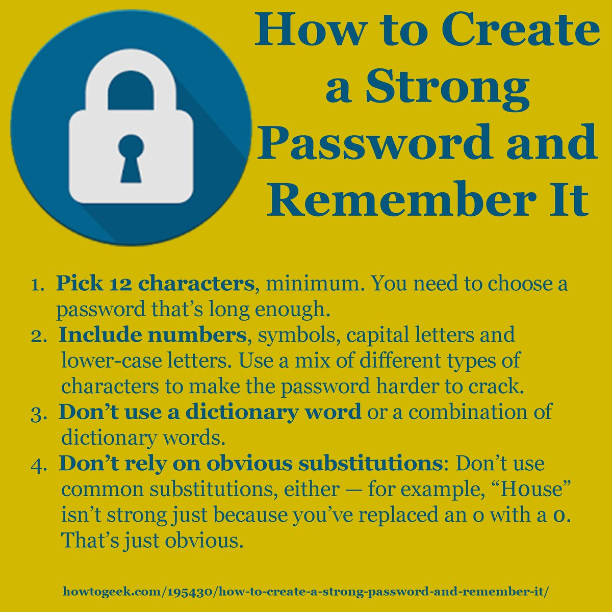 #cybersecuritymonth may be over, but with #cybermonday coming having a strong password is still important. #tips #security #bbb<br>http://pic.twitter.com/6vdY5aHIgA