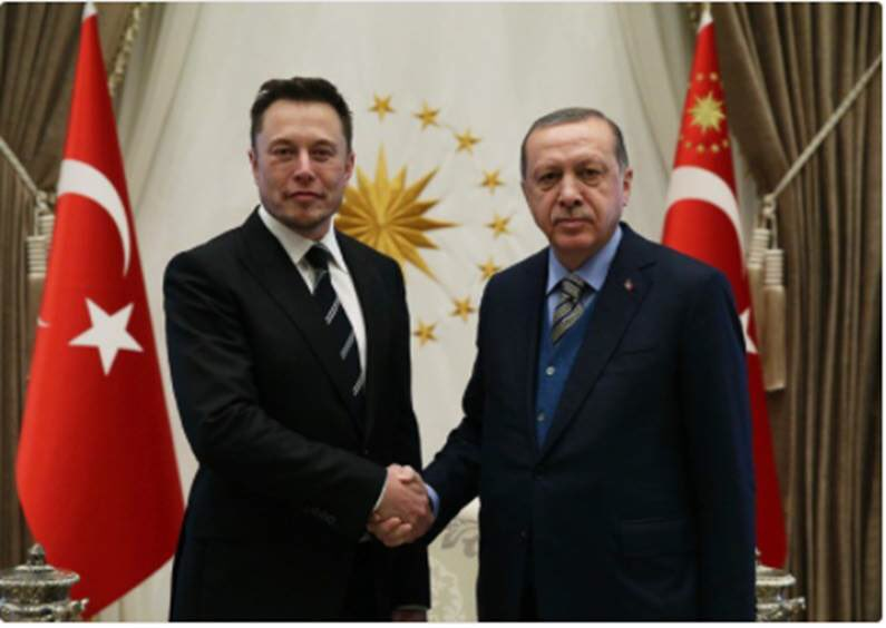 Elon Musk meets with Erdogan. Working on plan to send opposition into space.
