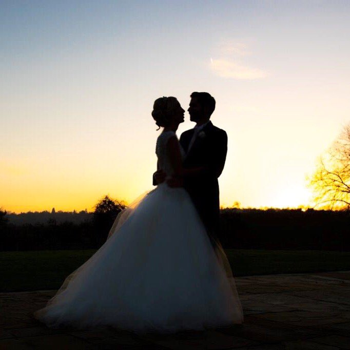 We're enjoying amazing #sunsets this #autumn. Perfect silhouette from a recent #wedding