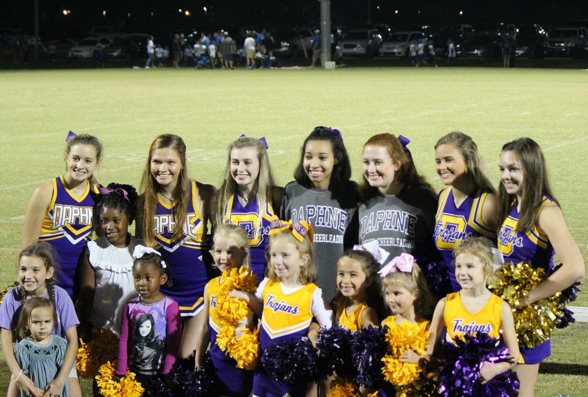 Our DHS Trojans supporting Daphne Youth Sports during their 1st round playoffs!!! #TrojansFamily #FutureTrojans #TrojanSupport<br>http://pic.twitter.com/TA1weNTmyh