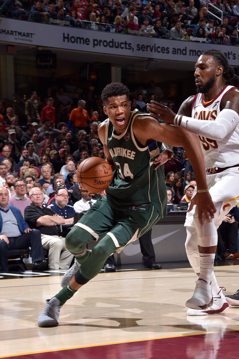Giannis:  First player in @NBAHistory with multiple 40+ point games on 70% FGM over first 10 games of a season. #FearTheDeer