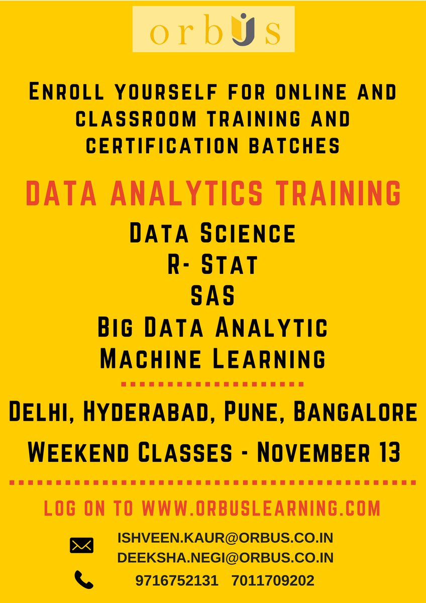 Orbusinternational twitter search note all registrations done before 13th nov 2017 will get discount on the course fees orbusinternational sas hadoop bigdata bigdataanalytics 1betcityfo Image collections