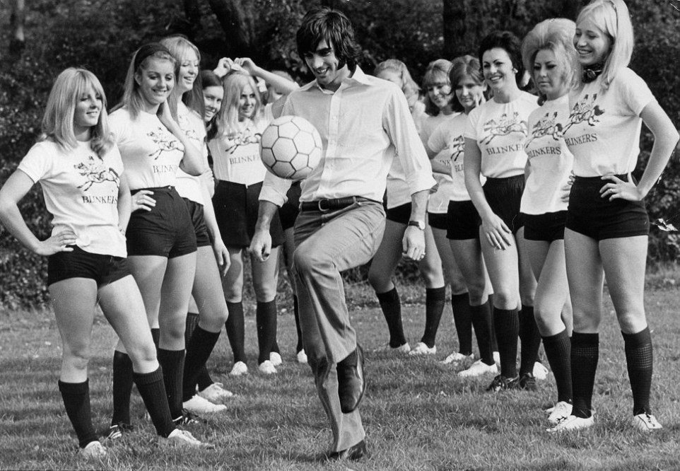 George Best show off hiss skills to the Blinkers 1969
