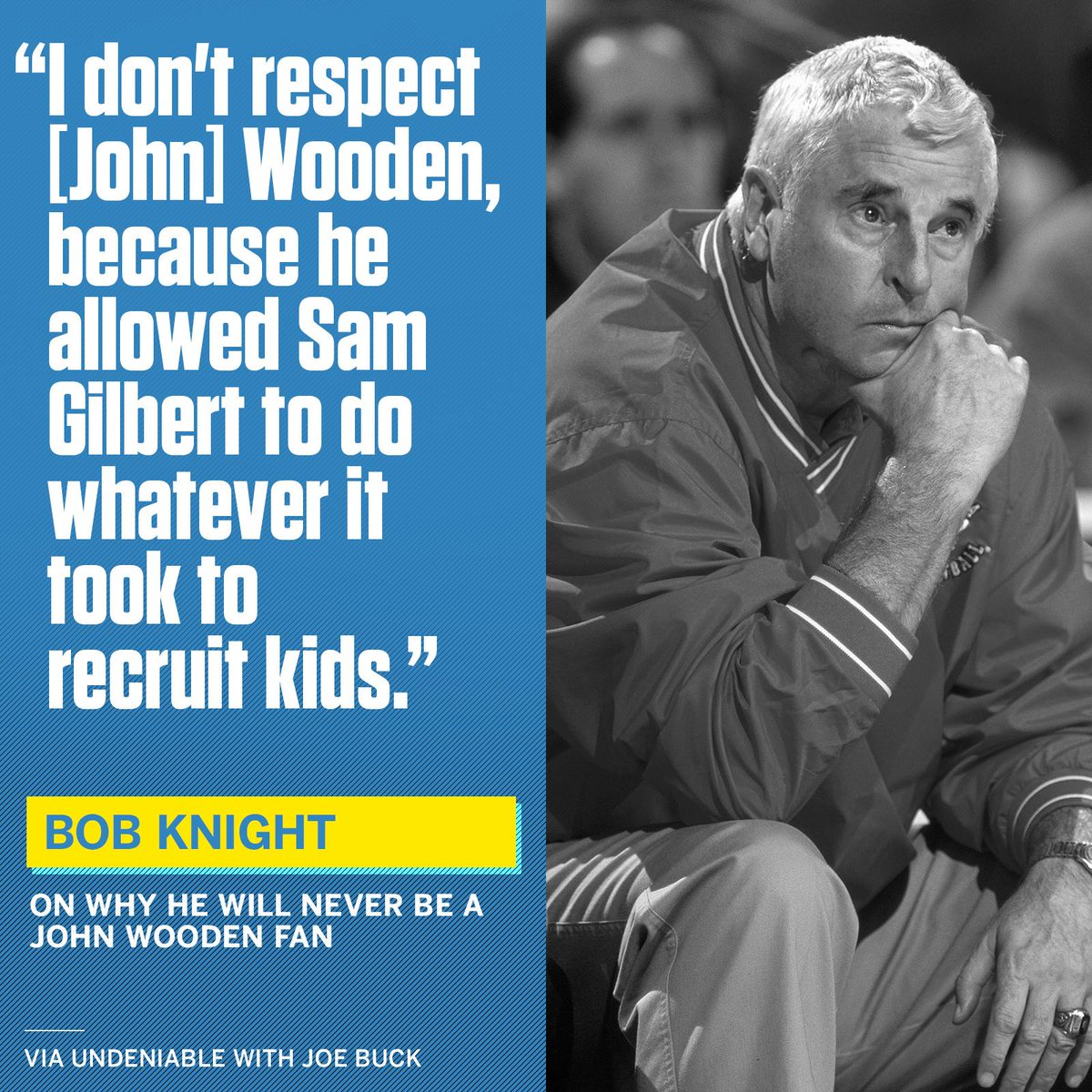 Sportscenter On Twitter Bob Knight Ripped John Wooden For Allowing