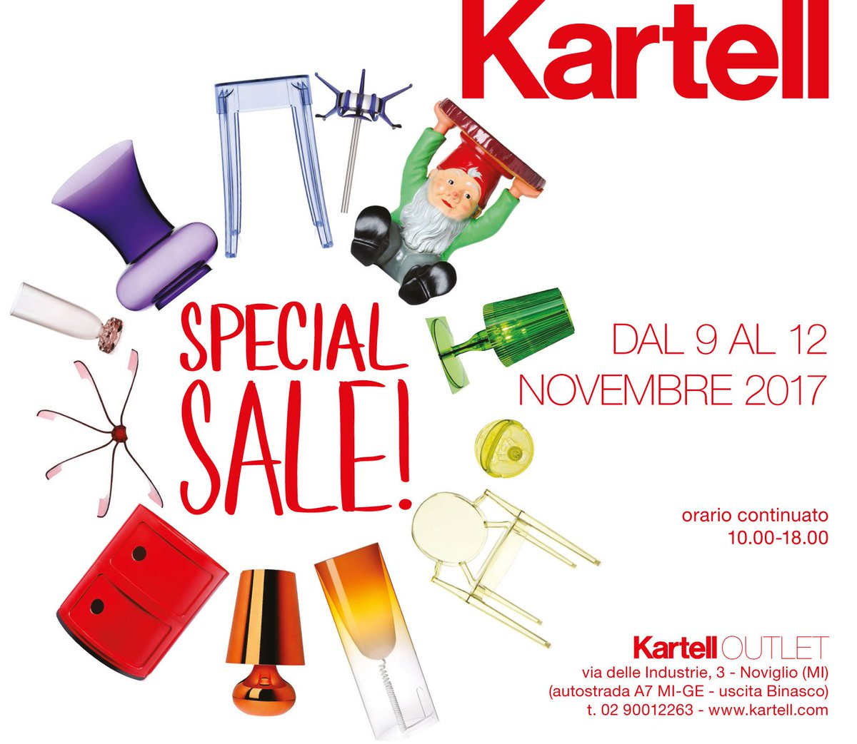 Kartell Noviglio Orari.Kartell On Twitter From The 9th Of November Until The 12th