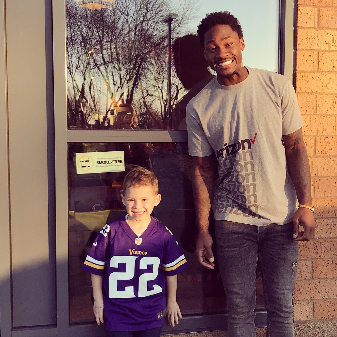 "Kate & Gavin on Twitter ""Gavin met Stefon Diggs yesterday at"