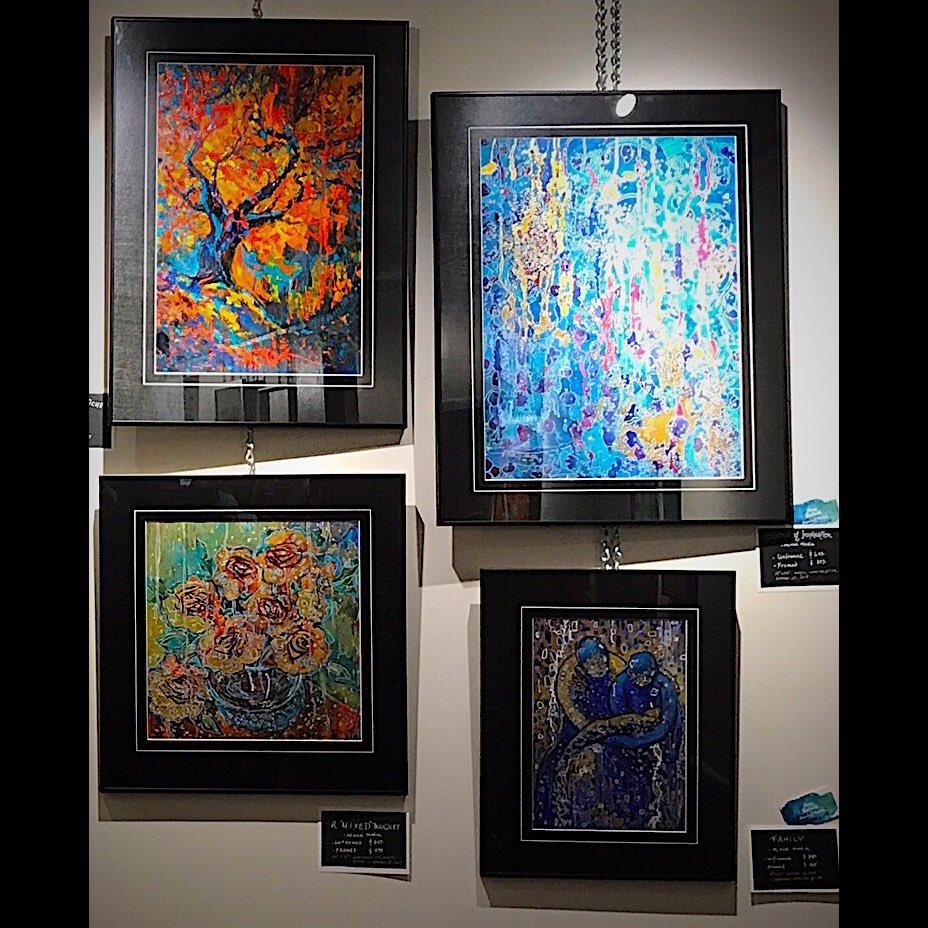 #framed #originalart @MahtayCafe #seetheminperson #mixedmediaart Amy Ballett. #Artforlife! @FURBjr @BrockVisualArts @strangepumpkin<br>http://pic.twitter.com/oSuGWL3MXf