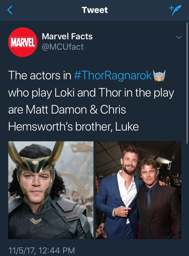 chris hemsworth on twitter rip mjolnir hammer thorragnarok