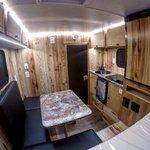 Inside look at a Retreat camper for a 5.5' truck bed heading to Oregon! #capricamper #Oregon #truckcamper