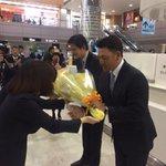 成田空港で壮行セレモニーを行っていただきました。台湾に行ってきます!試合はパ・リーグTVで生中継され…
