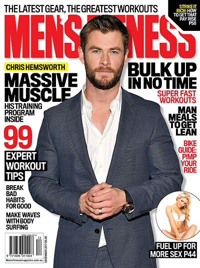 RT @MensFitnessAU: New issue on sale today, the genetically gifted Mr Hemsworth on the cover... https://t.co/12ze0w4rMp