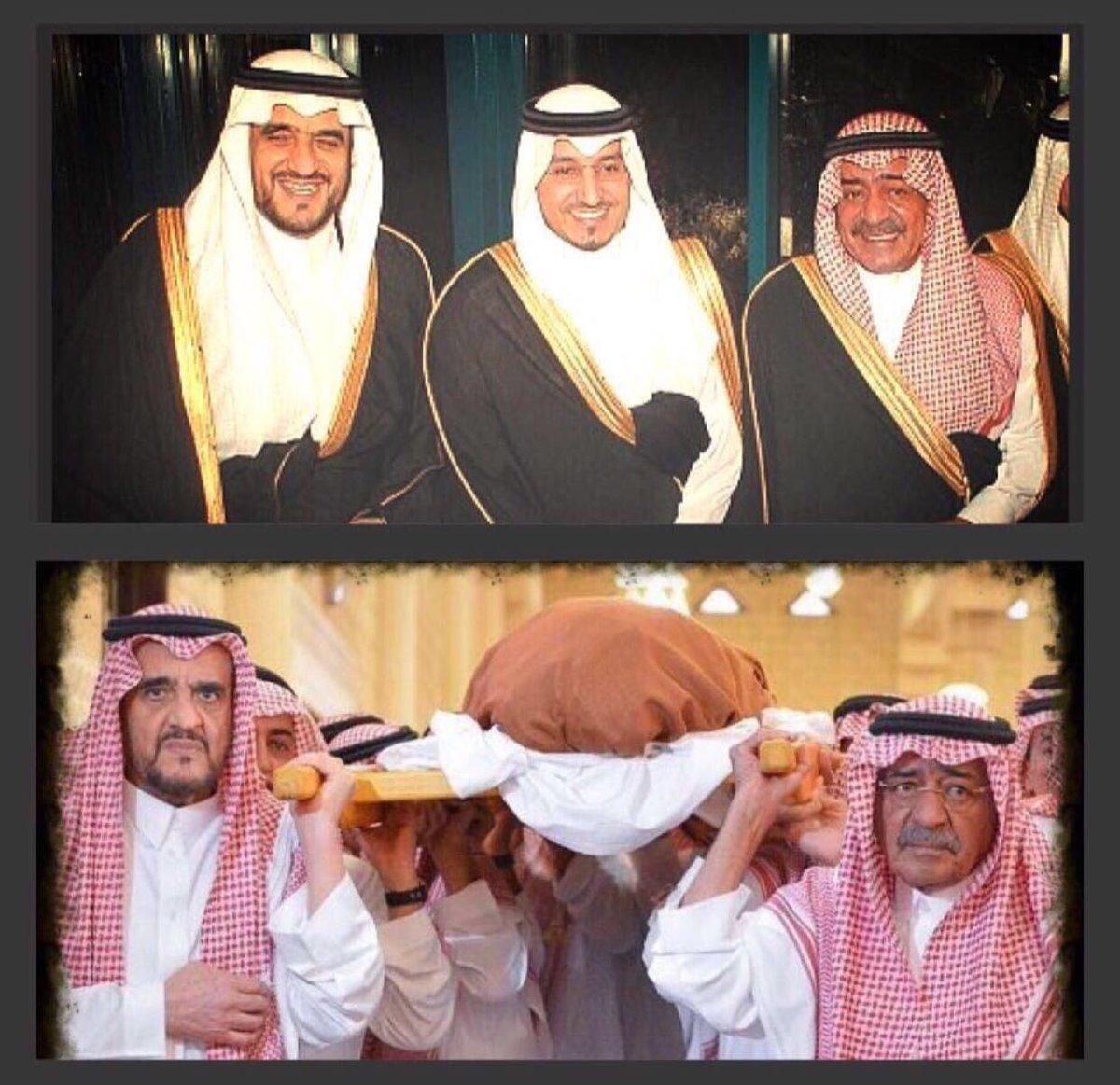 رحم الله عبده منصور بن متعب.  الصور تتحد...