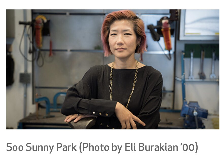 Congrats to #VanBiennale alumna Soo Sunny Park on being awarded a 2017 Faculty Award at @dartmouth!  https:// news.dartmouth.edu/news/2017/08/2 017-faculty-awards-honor-teaching-and-scholarship &nbsp; …  #arts #news<br>http://pic.twitter.com/IJtXtPxDWK