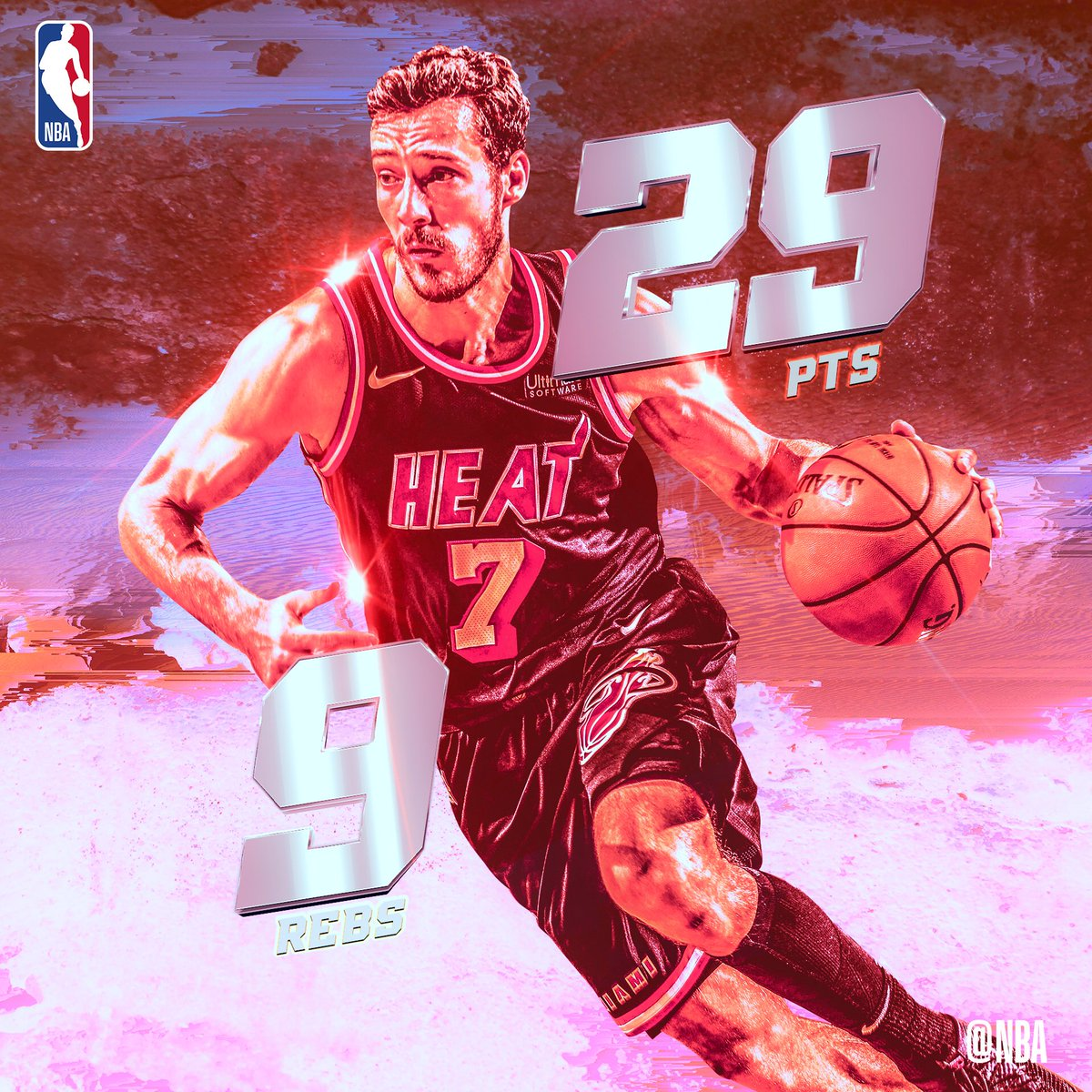 Goran Dragic puts in a season-high 29 PTS and grabs 9 REBS for the @MiamiHEAT!  #SAPStatLineOfTheNight