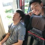 こんな写真絶対に見れないと思う‼️今年大フィーバーした広島東洋カープの薮田和樹選手。朝早かったもんね…