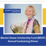 Join us at the Marion Dewar Scholarship Fund Annual Fundraising Dinner (Note new date - Nov 28th)  https://t.co/Q9zq7OUWeW