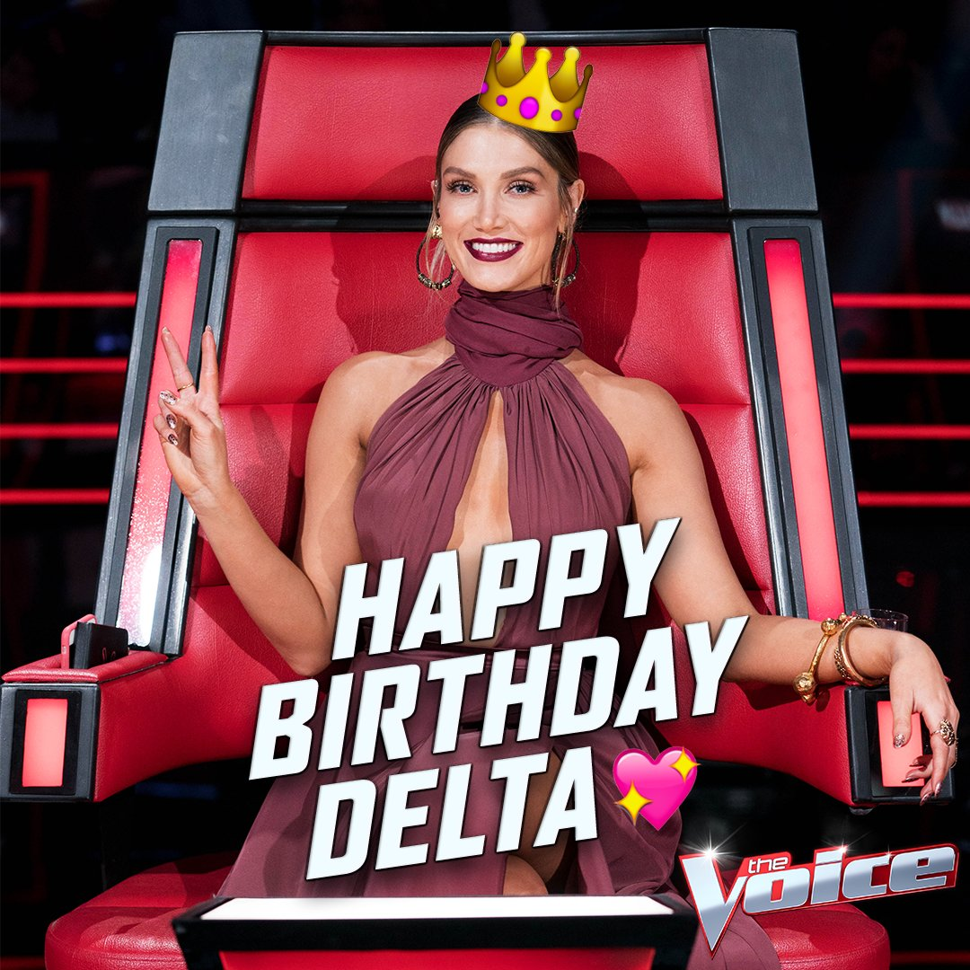 Please join us in wishing our reigning queen @DeltaGoodrem a very happy birthday! Delta, we absolutely ❤️ you! #TheVoiceAU