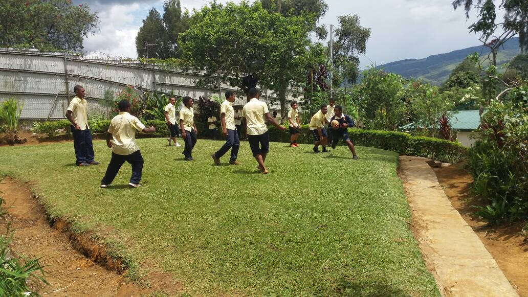 Boys touch rugby...