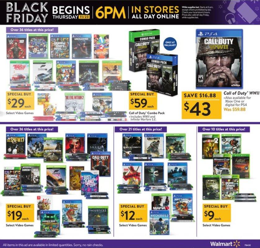 Walmart Black Friday 2018 Game Deals
