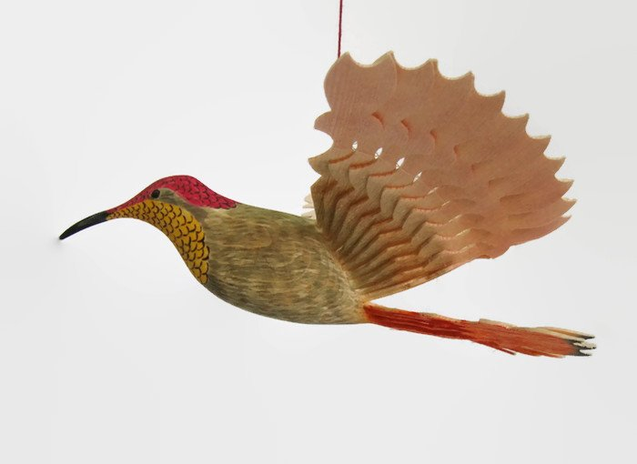Bird Mobile Wood Carving Hand Carved Ruby Topaz by MyFanbirds  http:// etsy.me/2ou3dbU  &nbsp;   via @Etsy #ShoppersHour #etsymntt #RT #Retweettrain <br>http://pic.twitter.com/81hCWMnOhp