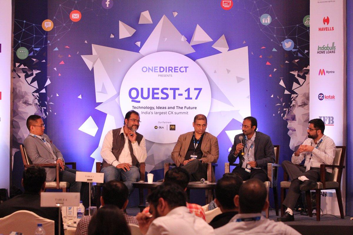 "Deepak Rai, @Sovs76 @priyomsarkar, Malay Dikshit and Shreerang Godbole discuss on ""Hardwiring Customer Feedback in Business Decisions"" at the #Quest2017. #CXInnovation #CXAwards #CustomerExpreience #CX #CustomerDelight #CXMeet #CEM https://t.co/49xR9gAb0N"