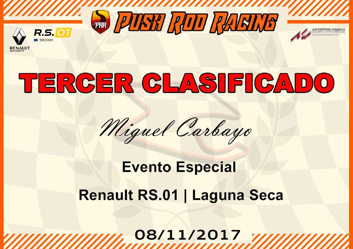 Push Rod Racing On Twitter Diplomas Del Evento Especial