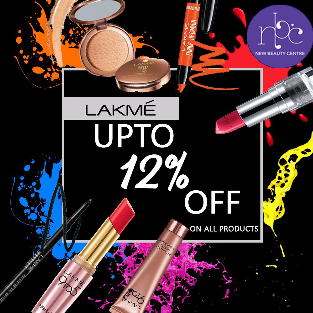 Holy Glam Grail! Shop from the exclusive range of Lakme products and get upto 12% OFF only at New Beauty Center.  #LipStick #Beauty #LipstickIsMyVice #BeautyProducts #Makeup #Cosmetics #Offers #Discount #NewBeautyCentre #NBC #ThursdayThoughts #Weekday<br>http://pic.twitter.com/C1eYkV6HT1