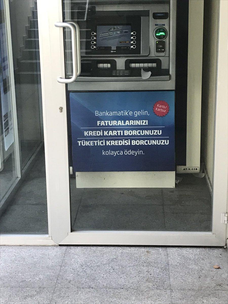 Bankamatikler bile biliyor ülkenin durumunu gelin para çekin yatırım yapın yook hep ödeyin hep ödeyin