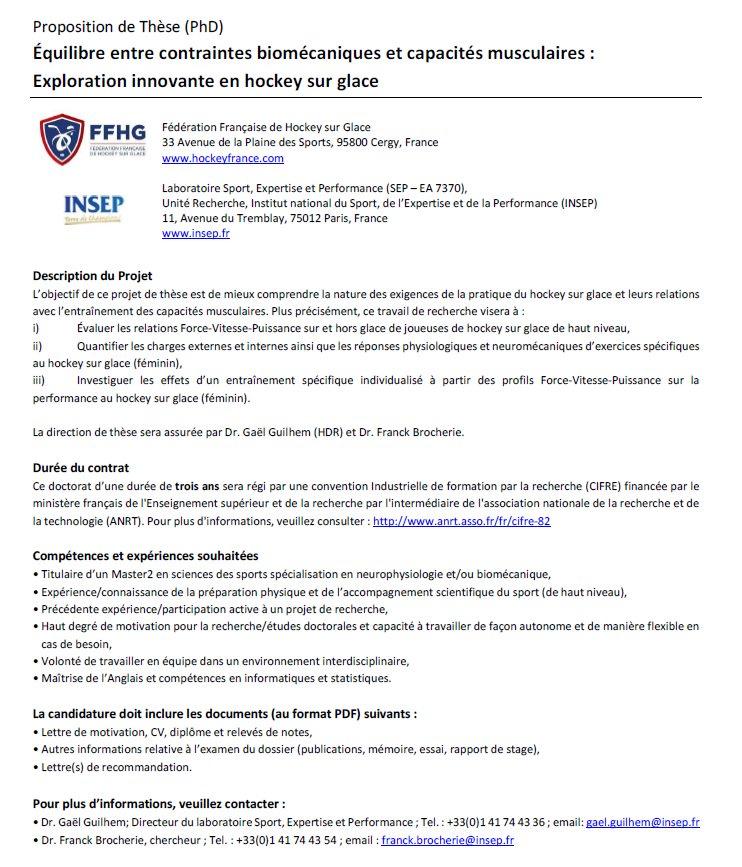 Franck Brocherie On Twitter Please Rt Phd Proposal On Women Ice