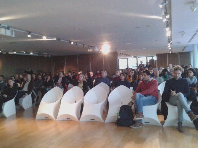 Fiers de participer à la 1ère table ronde sur le dernier kilomètre du colloque annuel du #ClubDeLaMobilite à la @BP_ACA ! 🍃🚙🚲🚍🚊 #EcoparcBTW