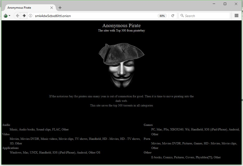 pirate bay dark web