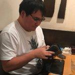 久々の竹山社長会。お会計。今日も機嫌悪かったなぁ。。。 pic.twitter.com/HC4gce…