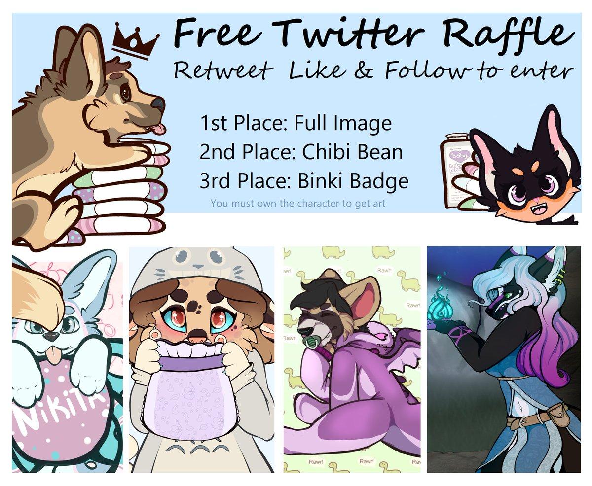 Hosting a free raffle so come join to get some cute art  retweet, like & follow to enter  posting your ref gets you a bonus ticket <3  ends Nov 16th #cub #furryart #babyfur #cubfur #anthro #abdl #freeraffle <br>http://pic.twitter.com/8Dvmf9T1YO