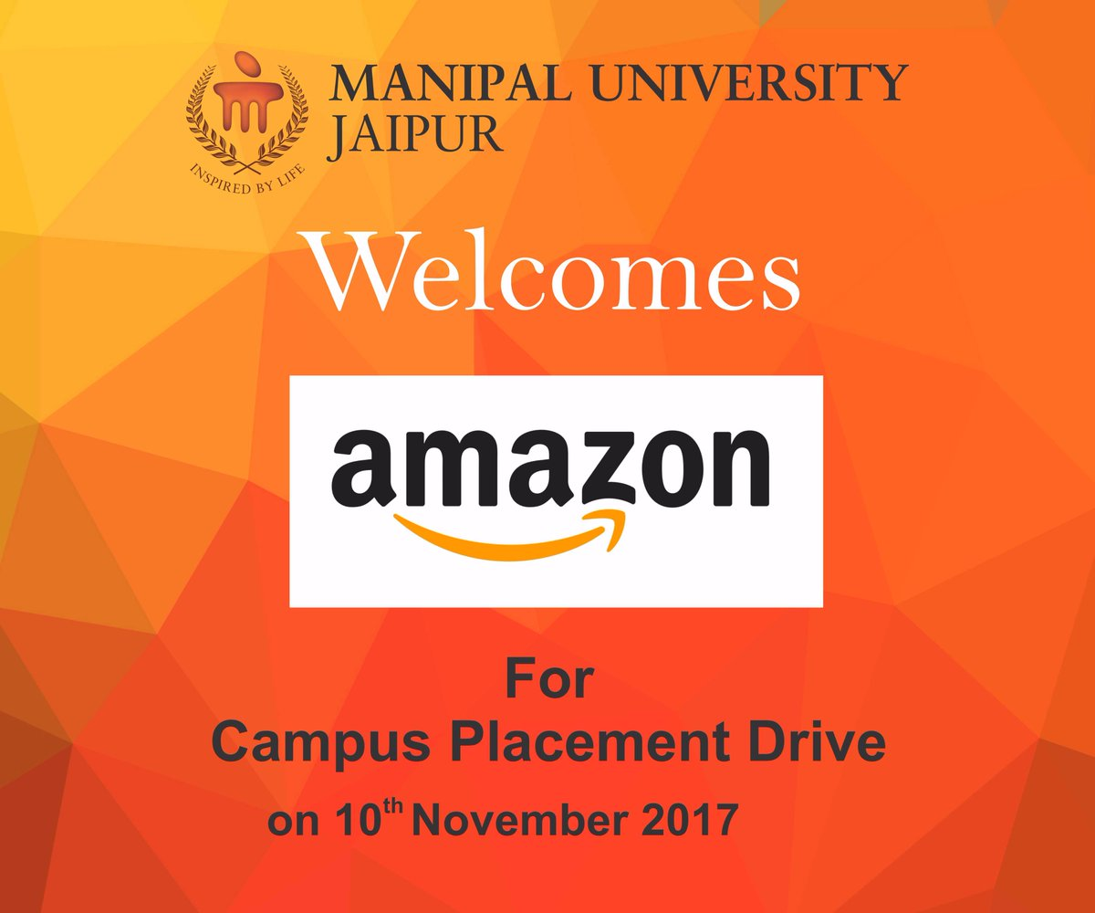 Amazon visits #MUJ on 10th Nov. to recruit  http:// B.Tech  &nbsp;   students from CS/IT/ECE/EE students.The selected candidates will be recruited for the role of Software Development Engineer. Salary – 16 LPA #placements #bestuniversity #lifeatmuj<br>http://pic.twitter.com/sIzAmQOhD7