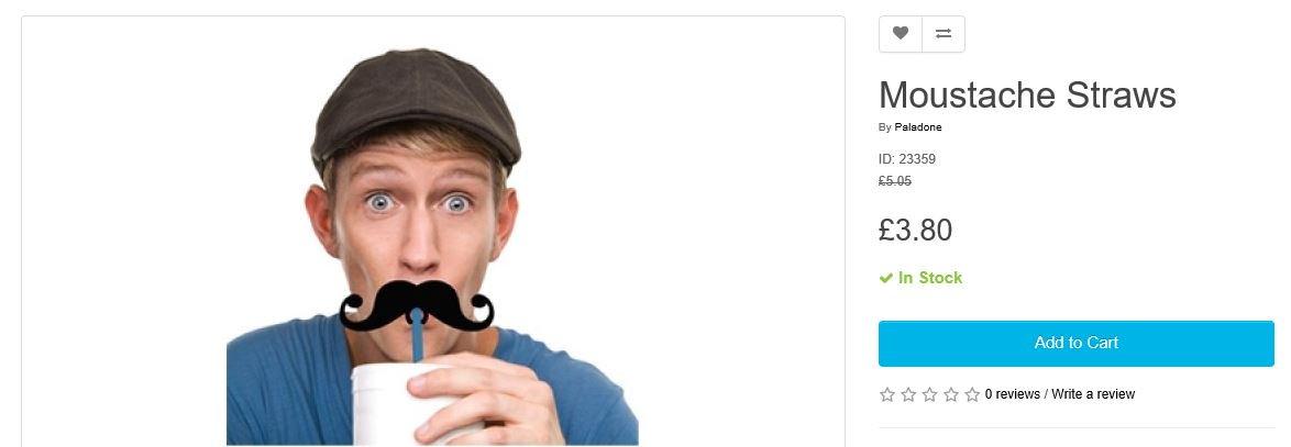 Save 20% on Moustache straws  http:// ow.ly/n0iX30grBsG  &nbsp;    #RT #Follow #Win Share #MultiBuy  buy 2 packs 30% off <br>http://pic.twitter.com/KkGYHntG4H