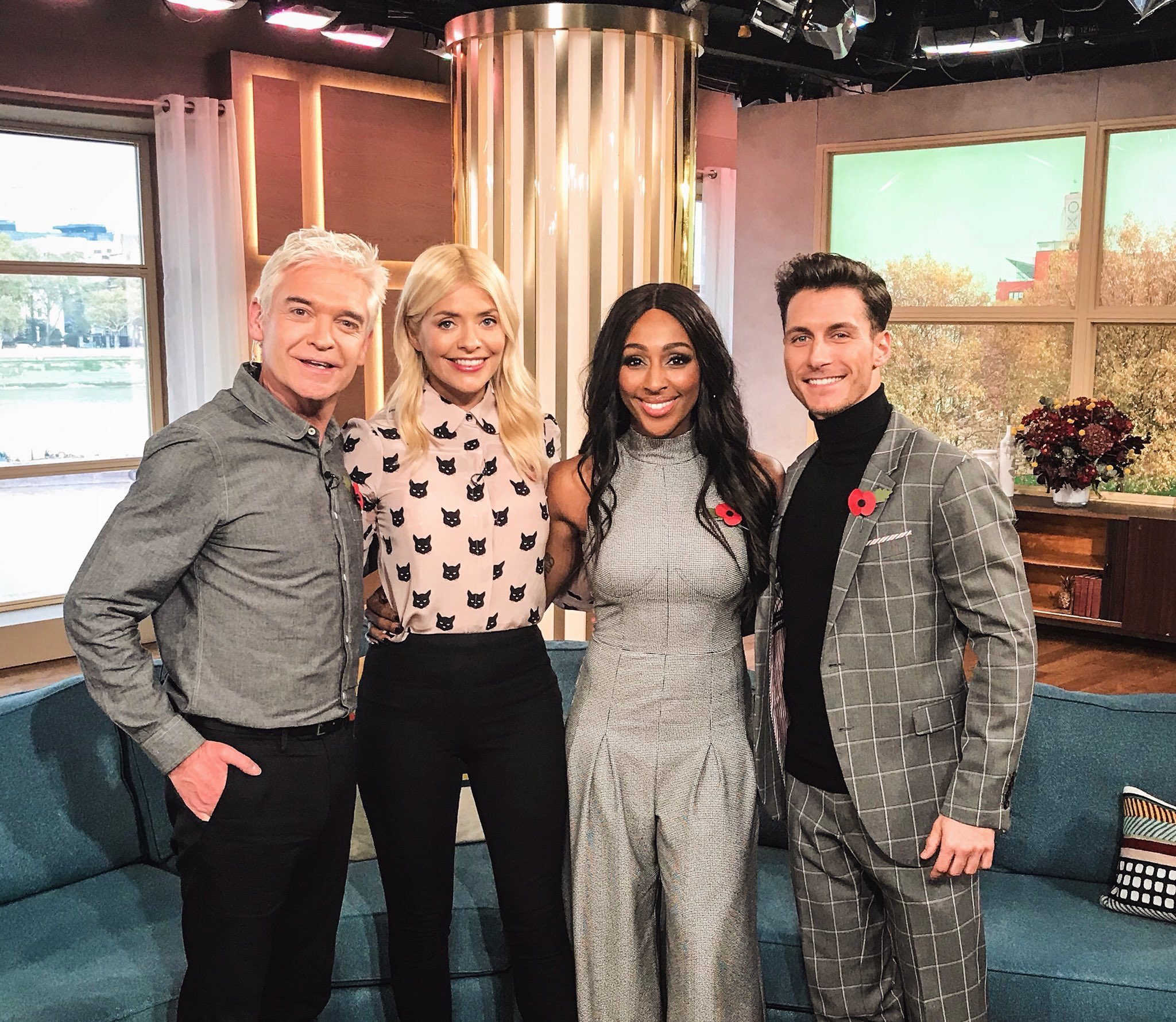 So much fun on @thismorning - lovely to see you guys @hollywills & @Schofe - thank you for having us xx https://t.co/NkGa9EanCy