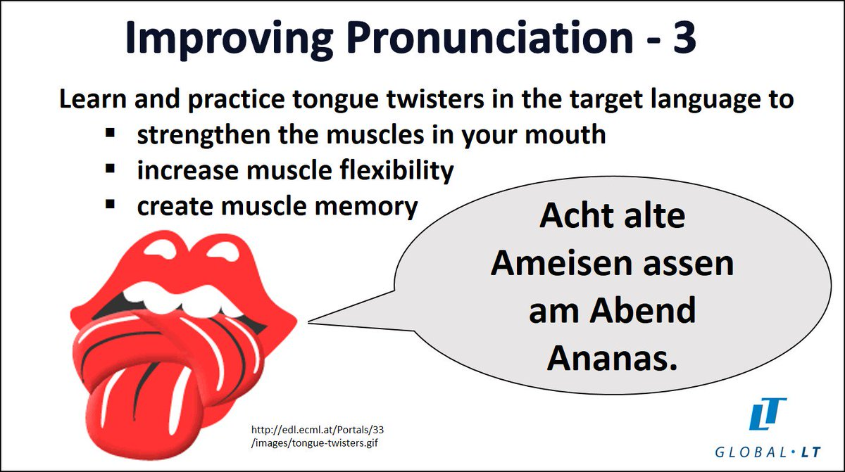 Global LT's Weekly Language Learning Tip  #languagetips   Improve pronunciation in your new language with daily tongue twisters. https://t.co/y4r3T1UU0s
