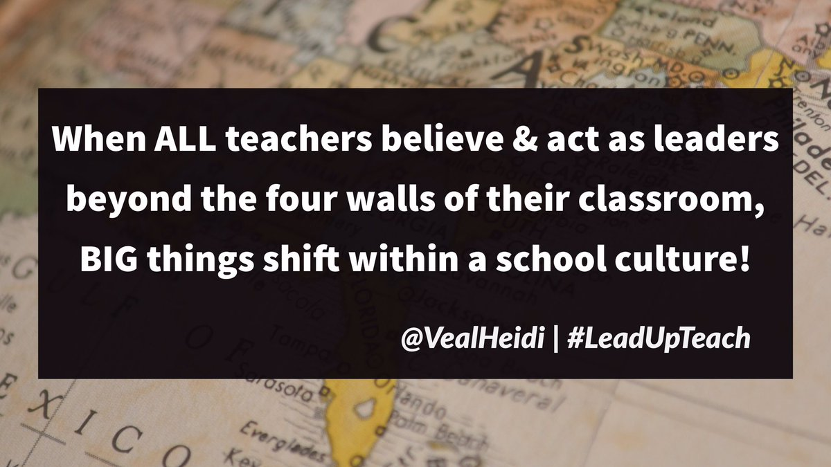 When teachers lead,BIG things happen! #leadupteach #leadupchat #atplc