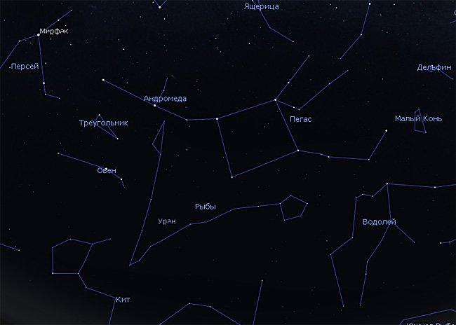 Основные созвездия звездного неба картинки