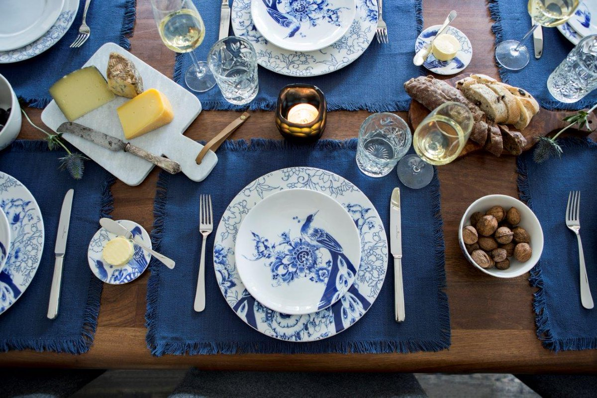 Royal Delft on Twitter  Proud as a peacock the new tableware by Royal Delft u0027Peacock Symphonyu0027 transforms tables into true paradises! & Royal Delft on Twitter: