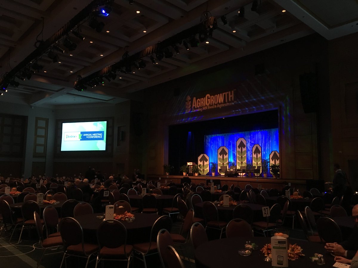 Breakfast is hot, tables and chairs are ready—Annual Meeting is about to begin! #agrigrowth17 https://t.co/TINeGC3JRJ