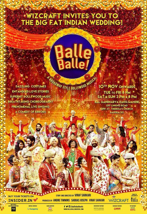 Congratulations n all d very best @WizAndreTimmins n d entire team at @WizcraftIndia 4 their newest production @balleballeofc.. can't wait 2 watch this 'big fat Indian wedding' theatrical!! https://t.co/uPltz2iNM1