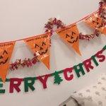 じゅりれなおん配信ありがとうございましたー!!!ハロウィンとクリスマスの間パーティー(?)、笑いすぎ…